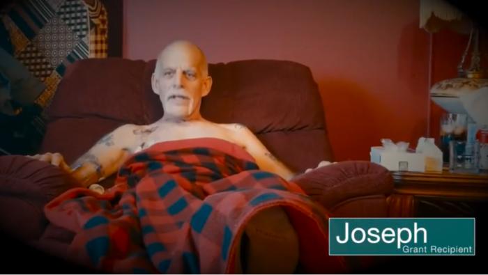 Joseph Odenbaugh sitting in a recliner